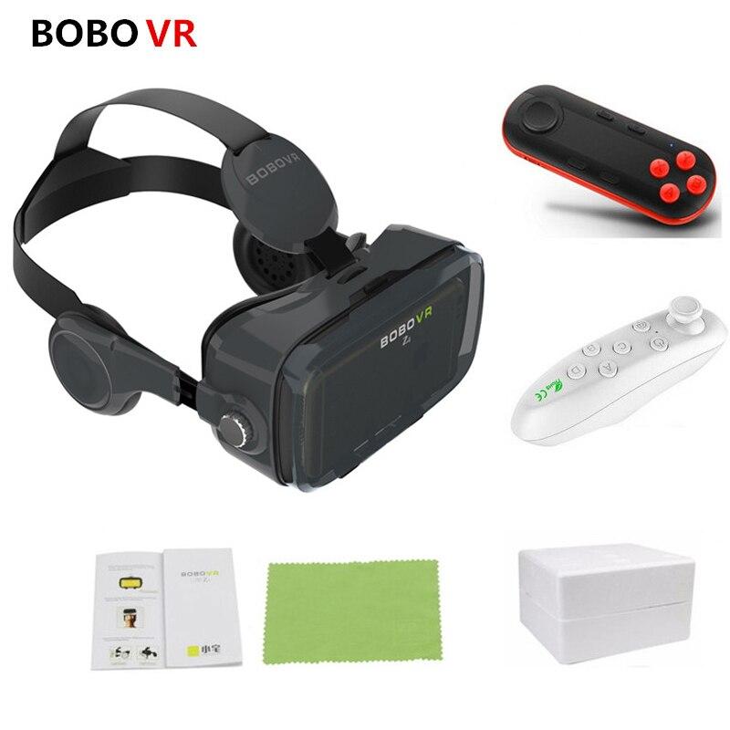 BOBOVR Z4 Leder Helm 3D Karton VR Gläser Virtuelle Realität VR Gläser Stereo Headset Bobo Vr Box Für 4- 6 zoll Handy