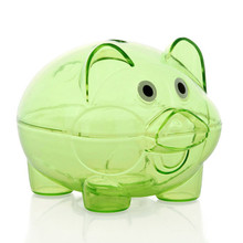 Cartoon Plastic Piggy Bank 4 Color Available Cute Money Box Children Toy Creative Saving Coin Birthday Gift