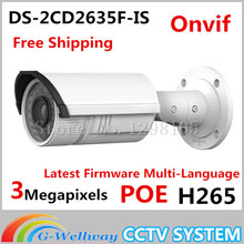 Cctv Camera Original Ds-2cd2635f-is Replace Ds-2cd2632f-is 3mp Cctv Ip Vari-focal Ir Bullet Camera For Audio Alarm Freeshipping