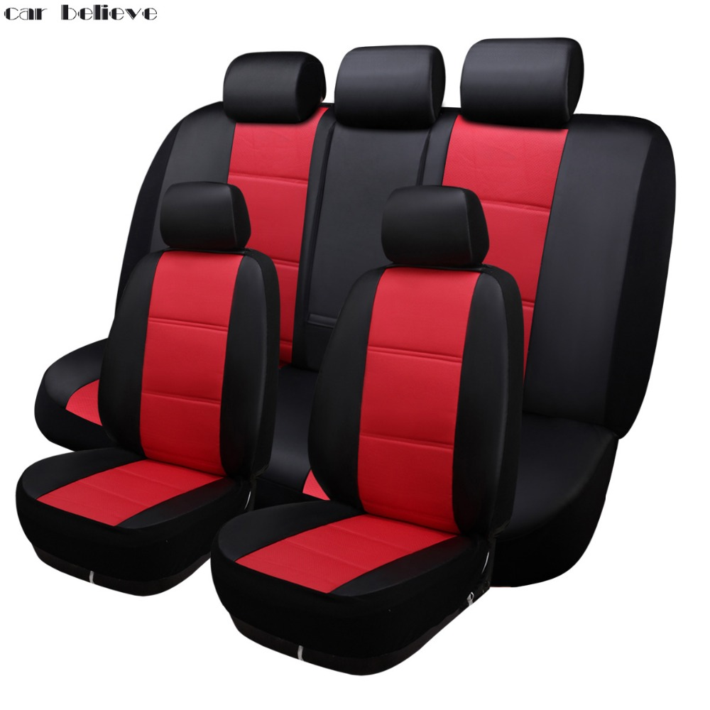 Car Believe Universal car seat cover For suzuki sx4 bmw e60 hyundai solaris toyota corolla ford focus kadjar car accessories kkysyelva universal leather car seat cover set for toyota skoda auto driver seat cushion interior accessories