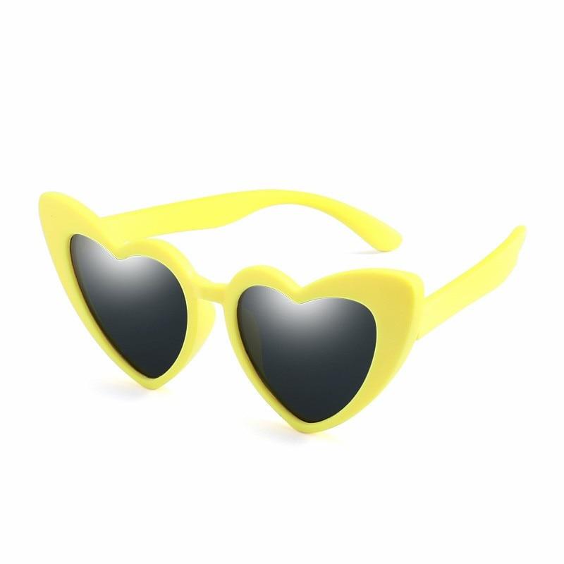 MYT_0106 Children Sunglasses For Boys Polarized Kids Heart Sunglasses Comfortable Girls Personality sunglasses Retro Eyewear in Sunglasses from Mother Kids