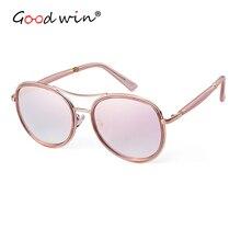 Good Win Fashion Women Sunglasses Luxury Brand Designer Gold Frame Rose Female Men gafas de sol mujer UV400