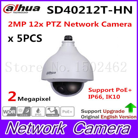 Brand 2MP IP PoE PTZ with 12x optical zoom Support Dual-streams Encoding SD40212T-HN, free DHL shipping brand new module 1746 ob16e with free dhl
