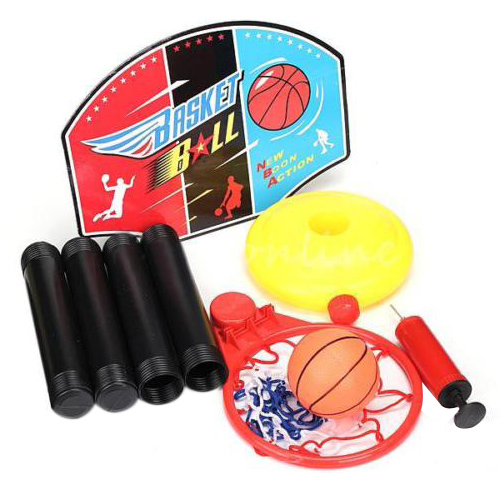 Adjustable Toy Basketball Set Kids Baby Children Sports Train Equipment Net Hoop