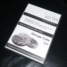 Rêve Coin Set (DVD + Gimmick) Routine de Pièce Tours de Magie Apparaissant Coin Magia Close Up Illusion Accessoires Drôle