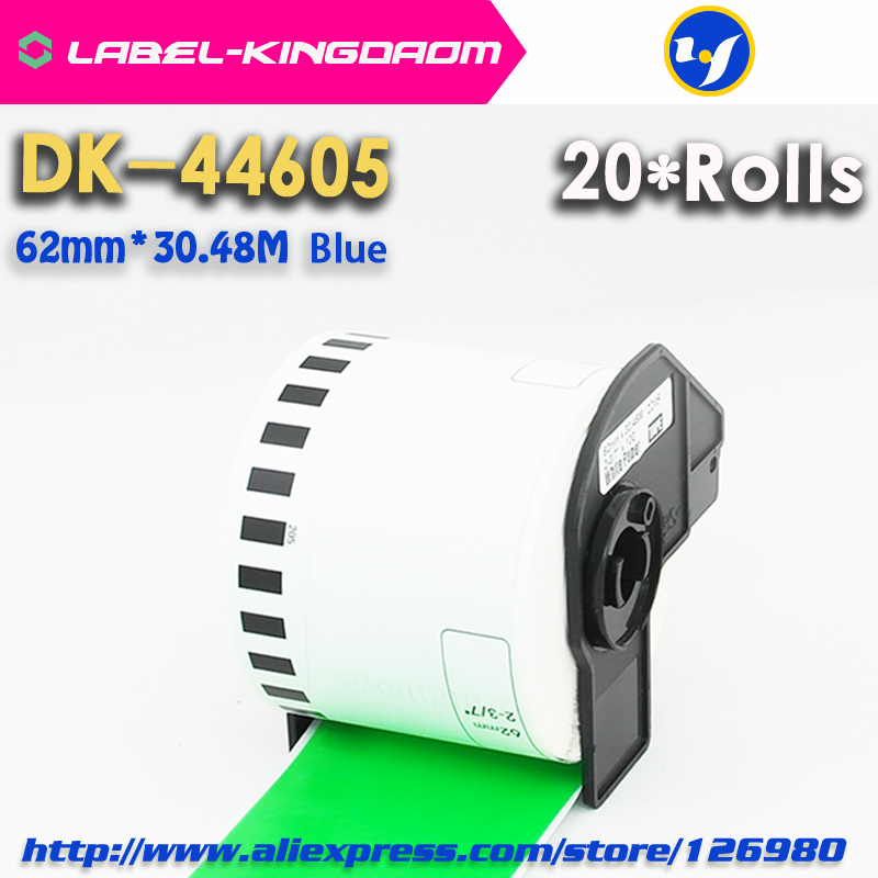 20 Rolls Brother Compatible DK-44605 Labels 62mm*30.48M Green Color Compatible for QL-700/720NW All Come With Plastic Holder