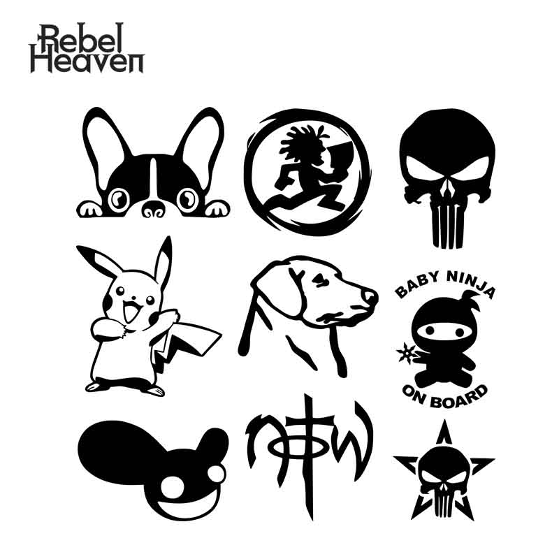 Rebel Heaven Car Styling Funny JDM NOT OF THIS WORLD Christian Jesus Insane Clown Posse Labrador Dog Vinyl Car Sticker-in Car Stickers from Automobiles & Motorcycles