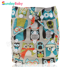 1 pc Cloth diapers baby One size fits all baby pocket diaper reusable and waterproof baby nappy diaper wholesale cloth diaper