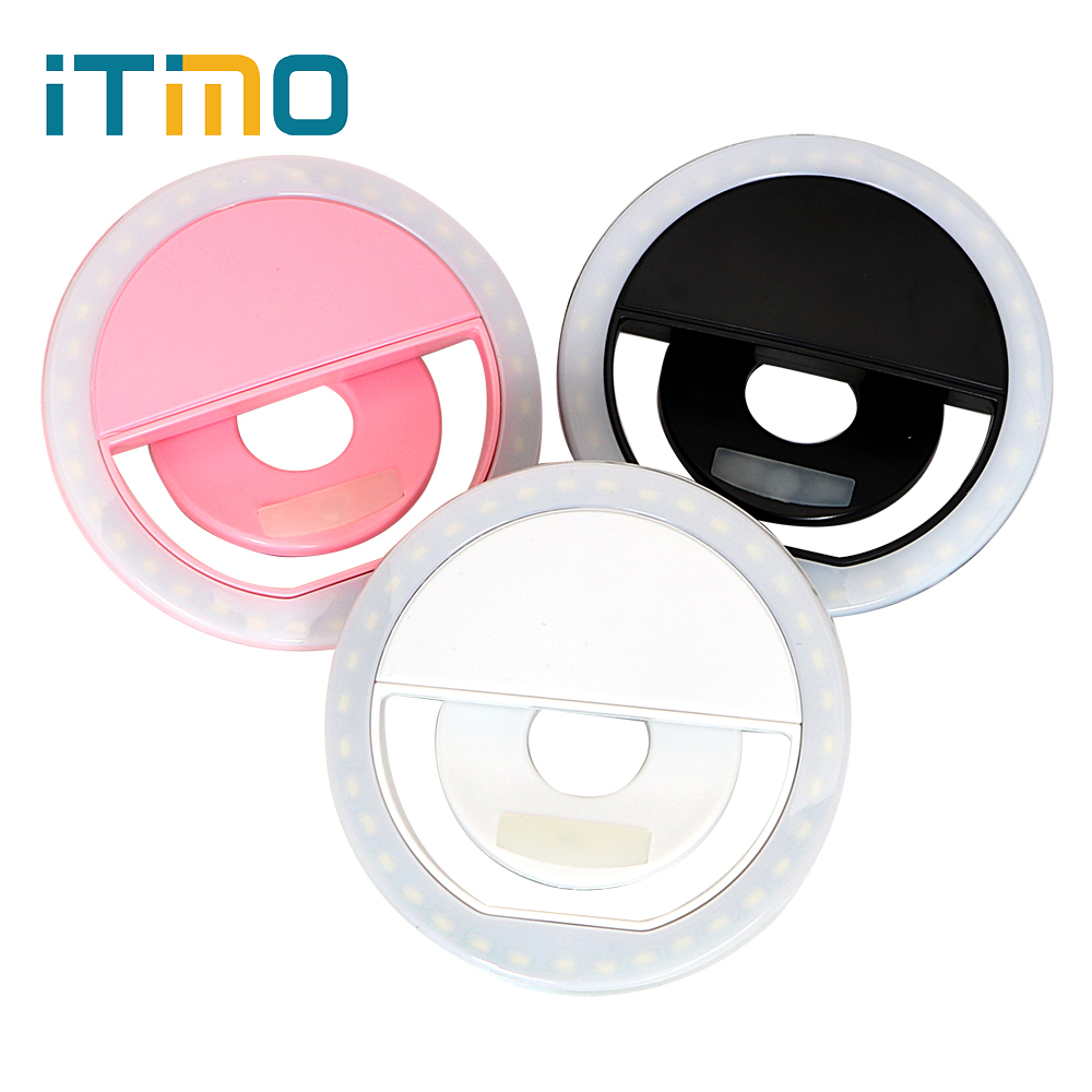 iTimo 36 Leds Cell Phone Camera LED Flash Fill Light Mini USB Rechargeable Smartphone For iPhone IOS Android Portable