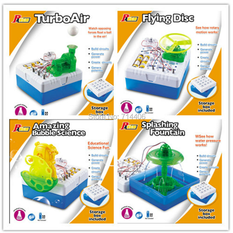 DIY electronic kit,flying disc,turboair,splashing fountain,amazing bubble science, building circuits technology model 4 styles системный блок jincheng science and technology i54590 gt750 diy