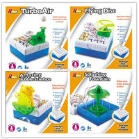 DIY electronic kit,flying disc,turboair,splashing fountain,amazing bubble science, building circuits technology model 4 styles