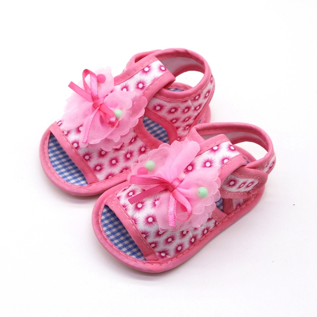 2019 Cotton Baby Girls Shoes Infant First Walkers Toddler Girls Kid Bowknot Soft Anti-Slip Crib Shoes
