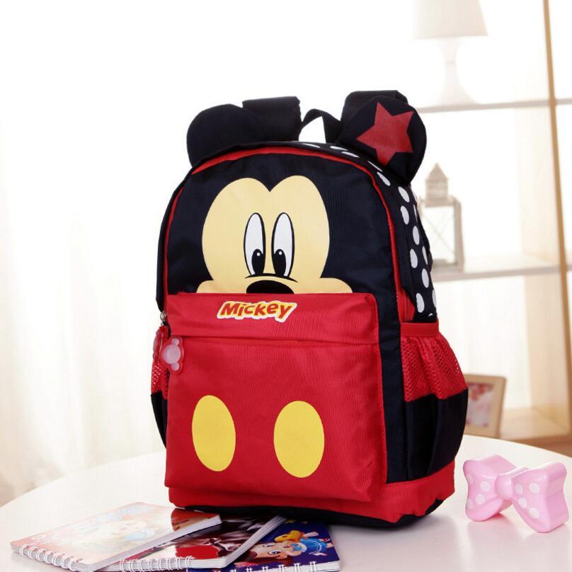 2018 Cartoon Mickey Children Backpacks/kids Kindergarten Backpack/kid School Bags/Satchel For Boys And Girls Free Shipping