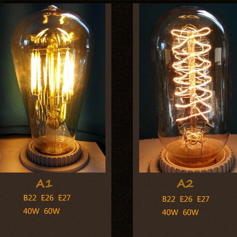 Lâmpadas Incandescentes do vintage bulbo de luz Temperatura de Cor : Branca Quente (2700-3500k)