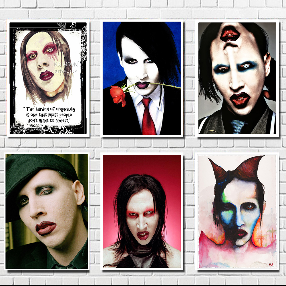 Marilyn Manson / ROCK BAND MUSIC Musician / White Kraft Paper / Wall Stickers / Bar Poster/ Retro Poste R/decorative Painting