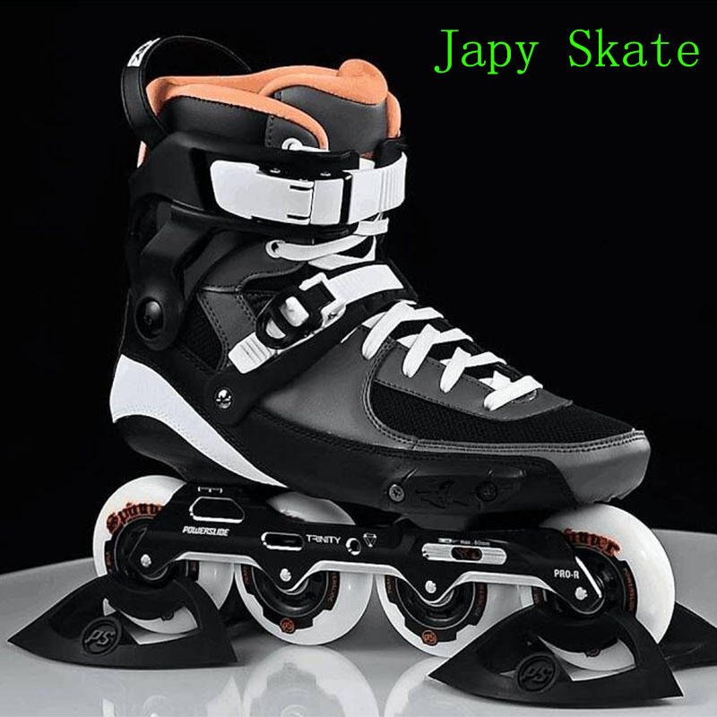 Japy Skate 2017 Powerslide TAU Professional Slalom Inline Skates Adult Roller Skating Shoes Sliding Free Skating Patins Patines prival горка 3
