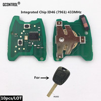 QCONTROL Car Remote Control Key Circuit Board for PEUGEOT 307 ID46 PCF7961 Electric Chip 433MHz Vehicle Keyless Entry 2 Buttons
