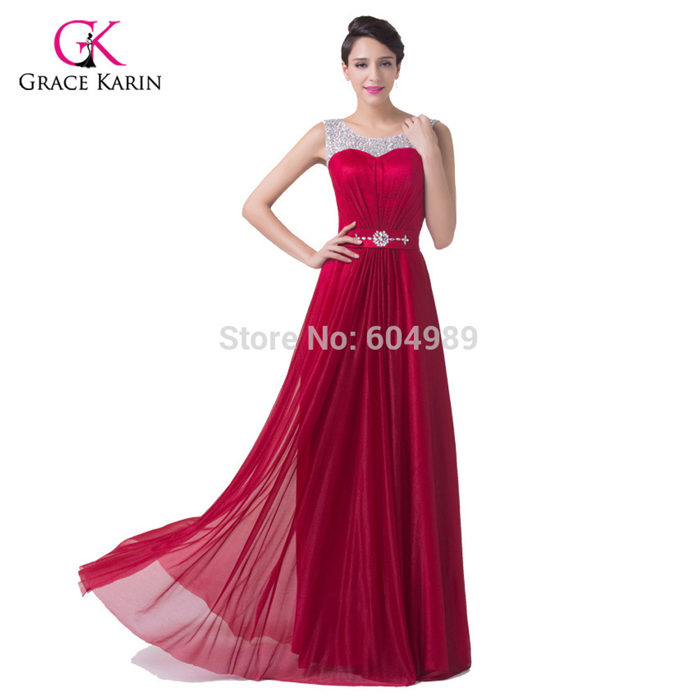 97d19876d5 Elegant burgundy Red satin cheap Long Bridesmaid dresses 2017 A Line  Wedding party Gown Floor Length Prom Dresses under 50 -in Bridesmaid  Dresses from ...