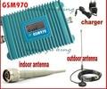 Display LCD GSM 900 Mhz Telefone Móvel GSM 970 Signal Booster, GSM Repetidor de Sinal, Amplificador de Telefone celular Com 10 M de Cabo + Antena