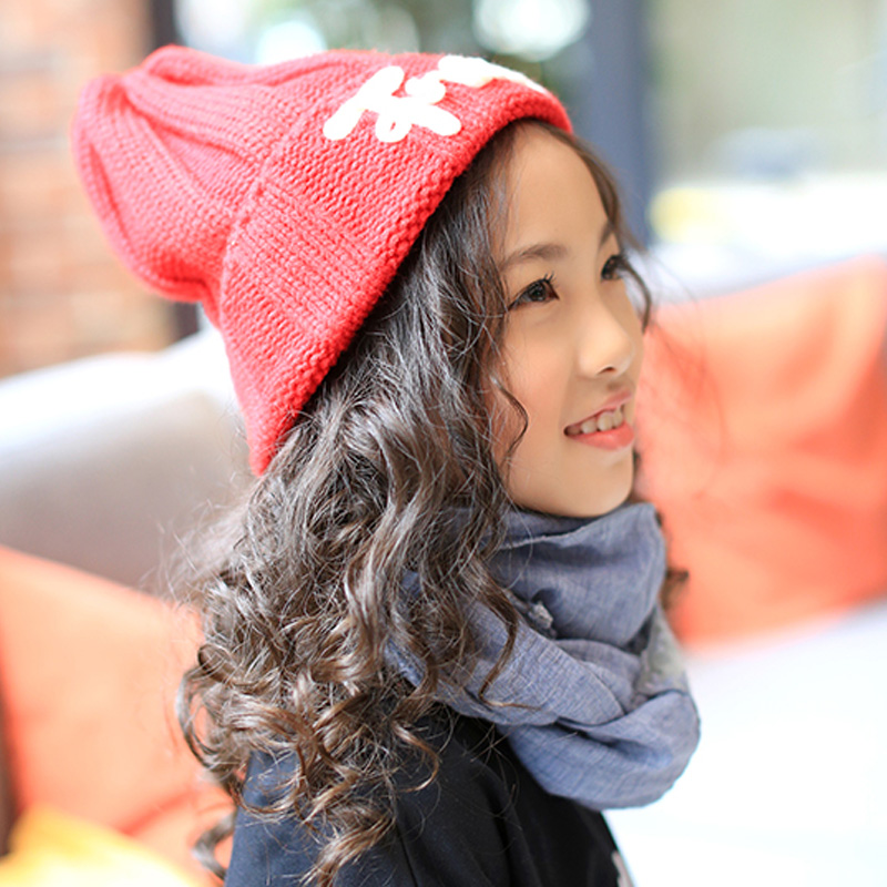 2016 New Fashion Women's Warm Woolen Winter Hats Knitted Fur Cap For Kids Adult Franks Letter Skullies & Beanies 6 Color Gorros 2016 new fashion letter gorros hats bonnets