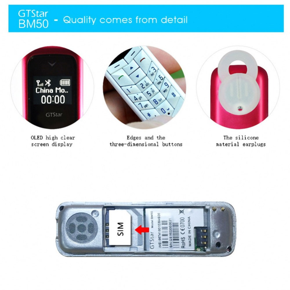 EDAL BM50 Bluetooth Headphone Pocket Phone Charging Mini Bluetooth Headset Dialer Stereo Earphone Support SIM Card Dial Call hot reamx rb t11c earphone mini magnetic dock bluetooth v4 0 earphone dual usb car charger fast charging support iso android phone