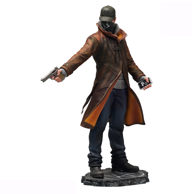 XINDUPLAN WATCH DOGS Aiden Pearce Game Action Figure Toys 24cm PVC Collection gift Model 1071 street fighter v chun li bigboystoys with light action figure game toys pvc action figure collection model toys kids for gift