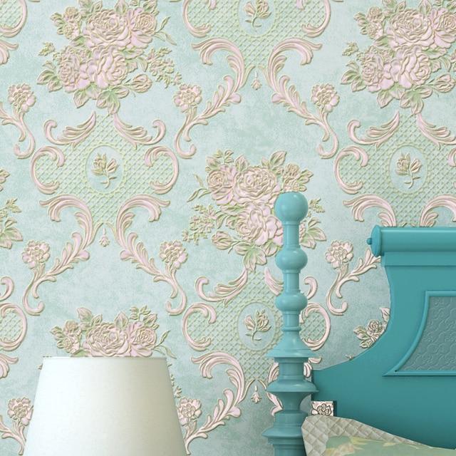 Americain Style Rustique Petite Fleur Non Tisse Papier Peint Rouleau