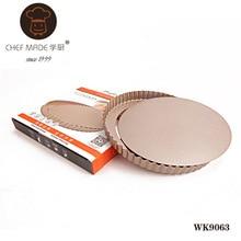 Hohe Qualität WK9063 goldene 9,5-zoll nonstick live unteren kuchenform runde kuchenform backform Küche Werkzeuge