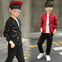 2018 Hot Sale Spring Kids Boys Clothing Sets Print Boys Long Sleeve Jackets Pants 2 Pcs