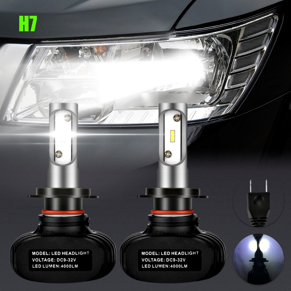 2x H7 6LED Car LED Headlights Bulb High Low Beam 8000LM 50W For Mercedes Benz W211 W210 W124 W212 W204 W203 W205 W220 W221 for mercedes benz w202 w220 w204 w203 w210 w124 w211 w222 x204 w164 t10 w5w 24 led 4014smd parking lights sidelight no error