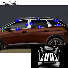 Для peugeot 3008 GT 3008GT 2016 2018 2017 стайлинга автомобилей нержавеющая сталь декоративная подушка окна средней полосы отделкой рамки для накладки на фары