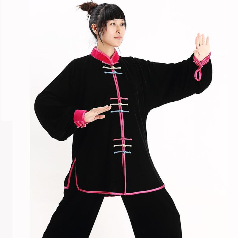 Taiji Uniform Woman Kung Fu Suit Uniforms With Shirt And Pants Shaolin Martial Art Clothes Tai Chi Wushu Taiji Clothing Winter
