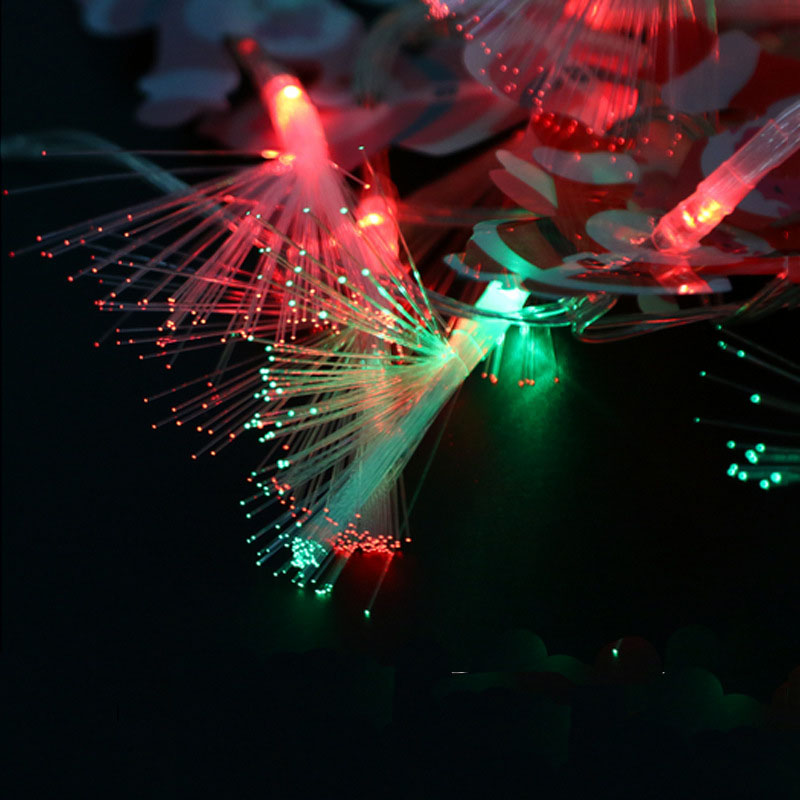 3M 20LED Santa Claus Christma Light Fiber Optic String Light For Christmas Holiday Indoor Outdoor Garden Decoration P15
