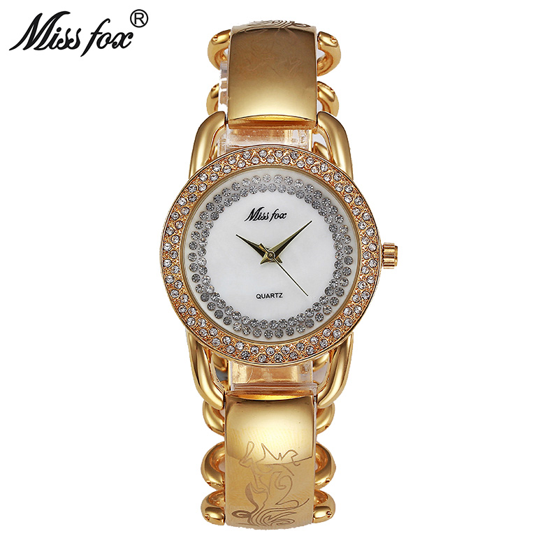 Miss Fox Women <font><b>Watches</b></font> Quartz Japan Movement Gold Fashion Brand Metal <font><b>Watch</b></font> Bracelets Chain Fantastic Female <font><b>Bu</b></font> Relogio Feminino image