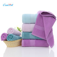 Happy Home 3PC Cotton Towel Luxury Hand Bath Beach Face Towels Baby Wash Towels Spa Facial