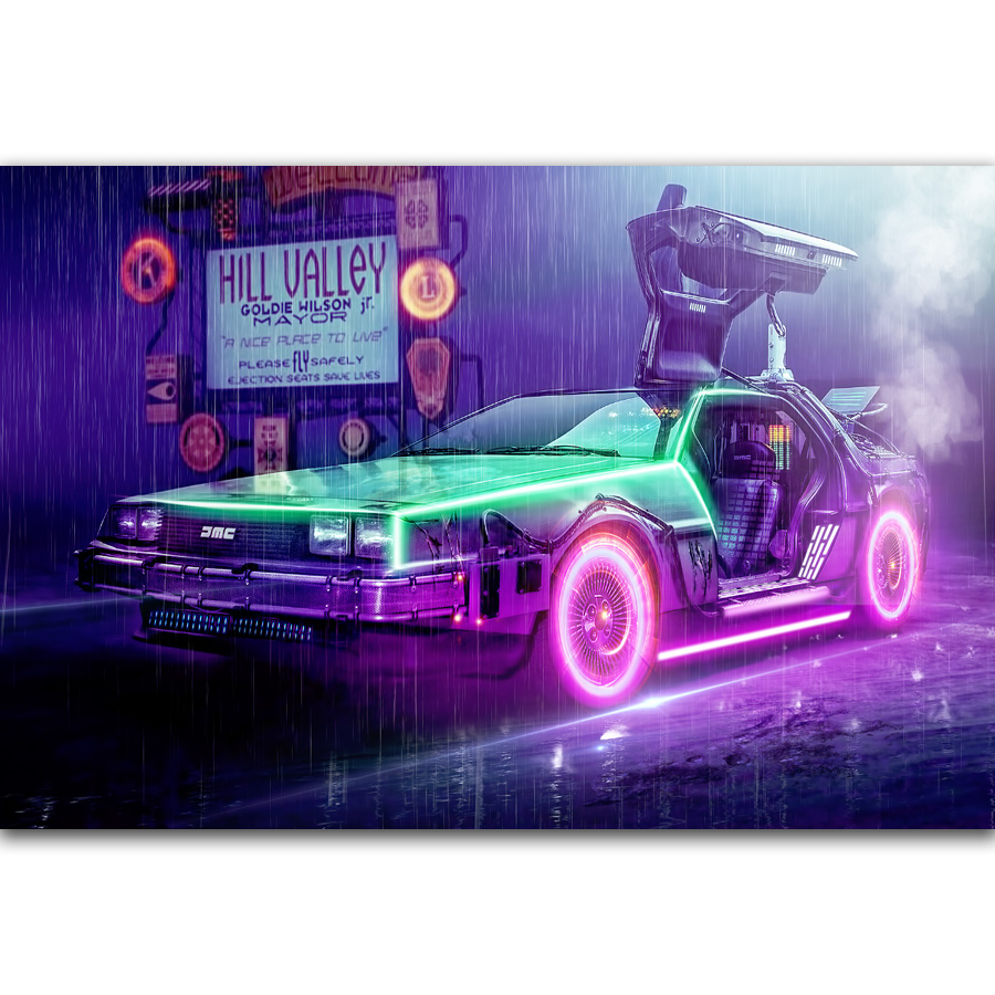 Back To The Future 1 2 3 Classic Movie Silk Poster 13x29 inch