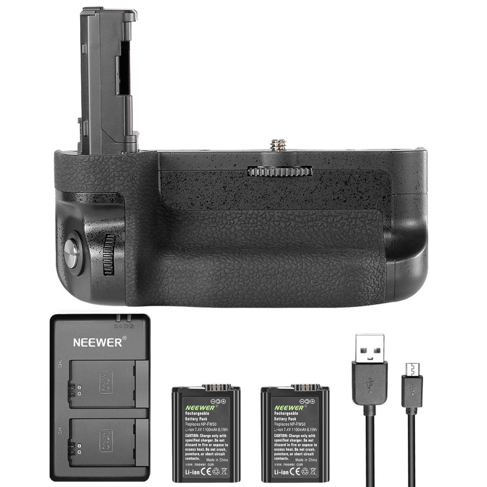 Neewer Vertical Battery Grip Kit For Sony A7 II A7R II, Includes VG-C2EM Replacement Battery Grip(without Remote Control)