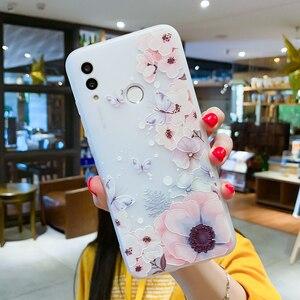 Image 3 - EIRMEON etui do Huawei P Smart 2019 3D Relief kwiatowe etui na Huawei Mate 10 Mate 20 Pro Honor 10 Lite matowe TPU etui na telefon
