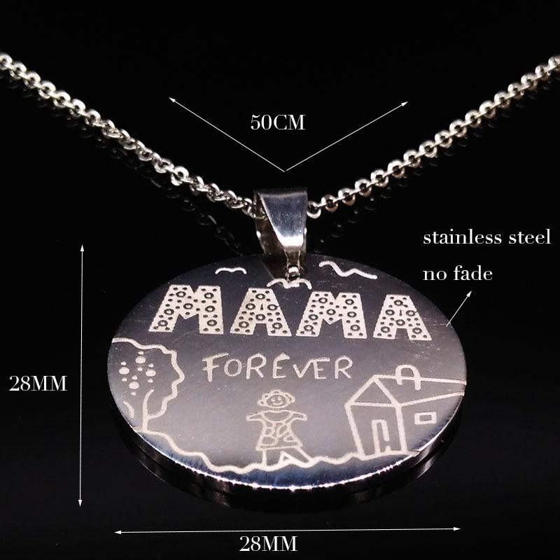 Οικογένεια Κολιέ Ανοξείδωτη Mama Forever Boy - Κοσμήματα μόδας - Φωτογραφία 2