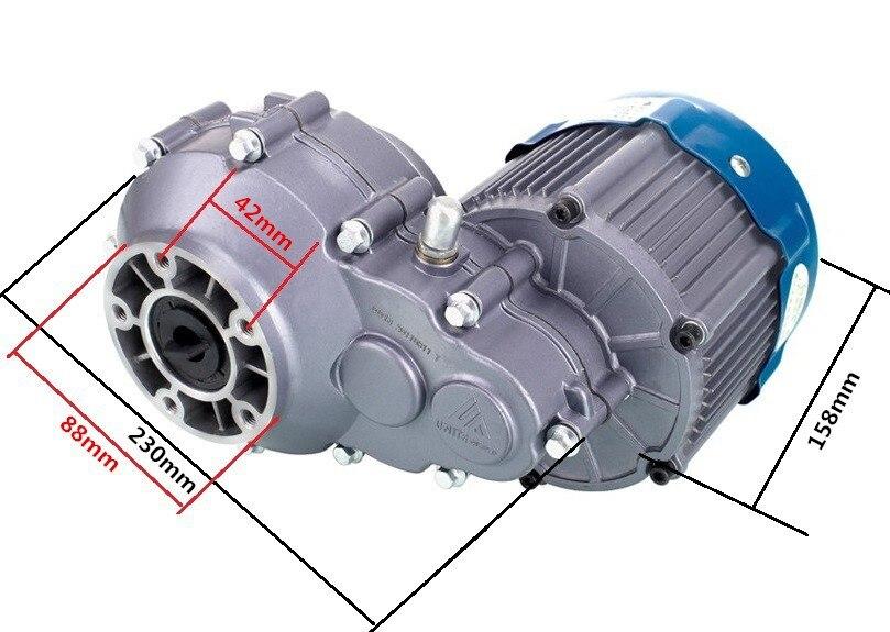 BM1418W-12B 300W 500W 650W 750W 36V 48V 60V DC Bürstenlosen Motor, elektrische Licht elektrische dreirad Motor Bike Conversion Kit