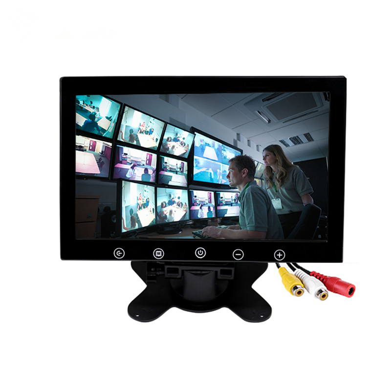 HD 9 Inch Monitor 800x480 TFT Color Screen, 2 Video Input Support Mini PC Display, Car Backup,CCTV, Home Security carchet 7 inch tft lcd color car monitor 2 video input pc audio video display security monitor screen car styling monitor
