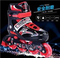 Hot sale!2017 Children Roller Skates Adjustable Four Wheels Outdoor Inline Skating Shoes For Kids suit+Protective Kit + bag