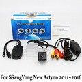 Para SSangYong Actyon Nuevo 2011 ~ 2016/RCA AUX Cable O Inalámbrica copia de seguridad de la Cámara CCD de visión Nocturna de HD de Gran Angular de Lente de Visión Trasera cámara
