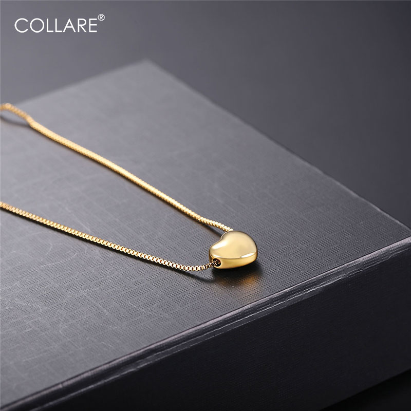 Collare Little Heart Clavicle Chain Gold/Black/Rose Gold Col