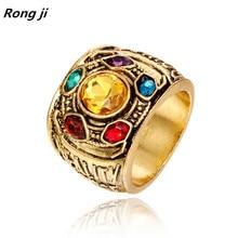 Dropshipping. exclusivo. Marvel vengadores 4 thanos anillos colgante hombres guantelete del infinito bague hombre anillos mujer joyas de cristal