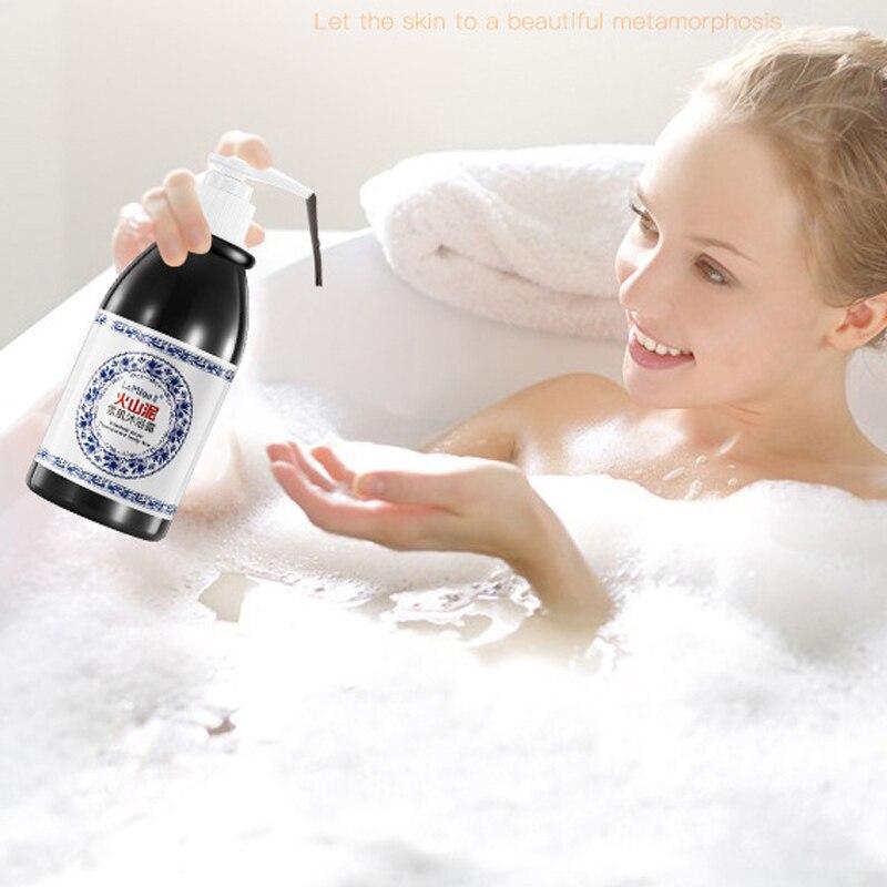 Volcanic Mud Body Wash 250ml Whitening Deep Clean Exfoliating Moisturizing Body Bathing Cream  Shower Gel Whole Body Wash Wyt77