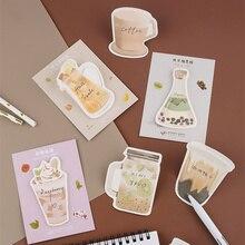 32 יח\חבילה לשתות דביק הערות גלידה קפה פירות יומן מדבקות מכתבים ספר קישוט משרד A6134