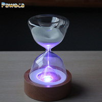 Romantic Colorful Hourglass Timer Night Lamp Bedside Sleeping Timer Desk Touchable Craft Color Changed Decoration Sandglass Gift