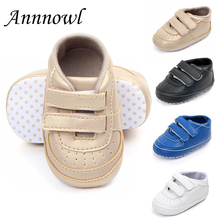 Little Kids Shoes Newborn Toddler Boy Loafers PU Leather Hook-and-Loop Infant Baby Sneakers Anti-skip Soft Sole Bebes Crib