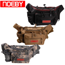 цена на Noeby Fishing Bag 28x19x12cm Canvas Waist Bag Fishing Tackle Lure Package Pesca Outdoor Equipment Bags